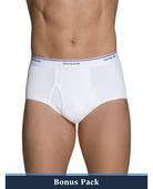 Men's Cotton White Briefs, 8 Pack