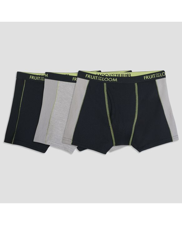 Boys' Breathable Assorted Ultra Flex Boxer Briefs, 3 Pack Assorted