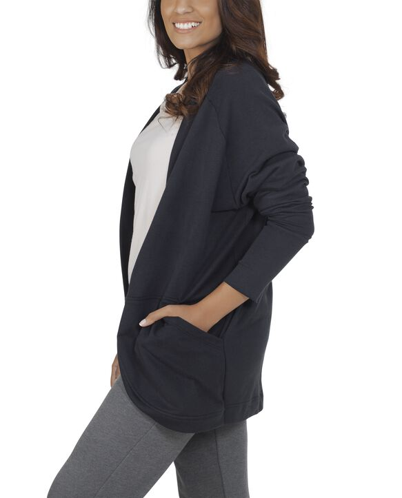 Women's Essentials Cocoon Wrap Cardigan, 1 Pack Black
