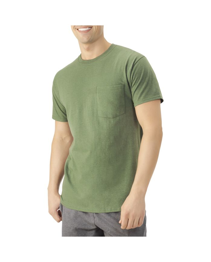 Men's Dual Defense UPF Short Sleeve Pocket T-Shirt, 1 Pack Camo Heather