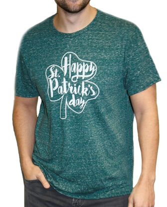 St. Patrick's Day Green Shamrock Crew T-Shirt