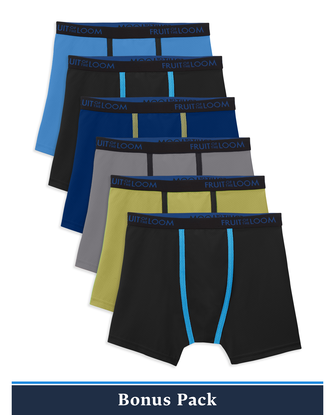 Boys' Breathable Lightweight Boxer Briefs, 6 Pack