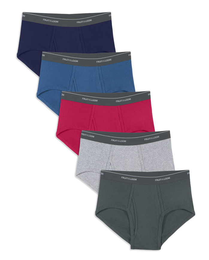 Men's Assorted Fashion Brief, 5 Pack, Extended Sizes