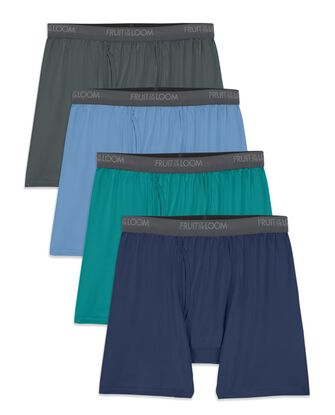 Men's Micro-Stretch Assorted Boxer Briefs, 4 Pack, Size 2XL