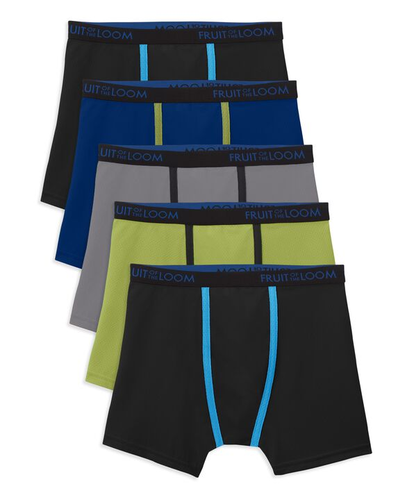 Boys' Breathable Micro Mesh Boxer Brief, 5 Pack ASSORTED