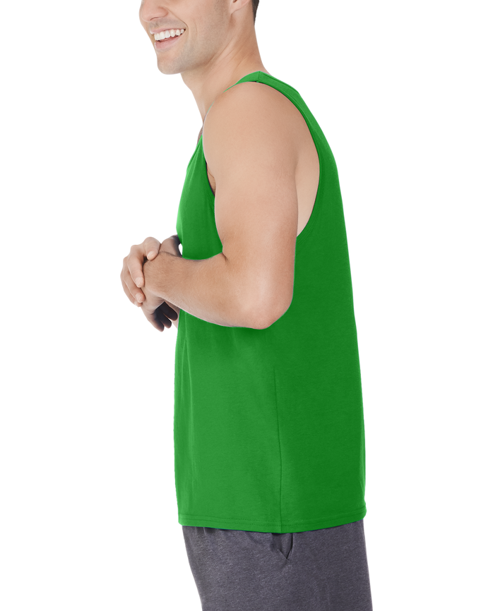 Men's Dual Defense® UPF Tank, 1 Pack, Extended Sizes Leaf Green