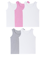 Toddler Girls' Tank, 5 Pack ASSORTED