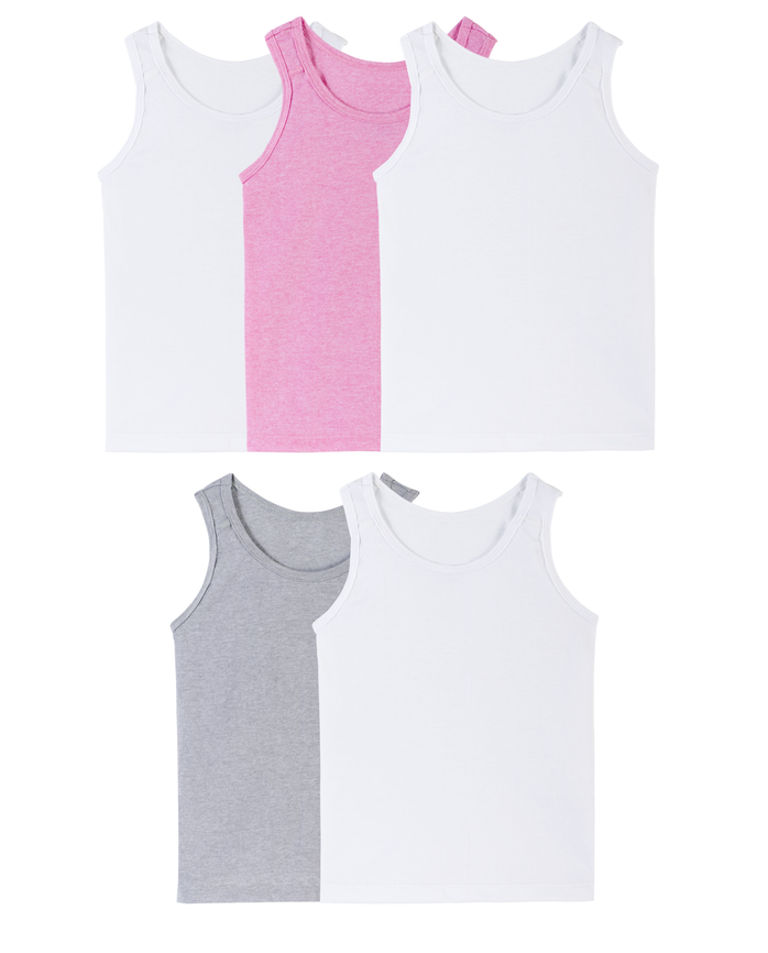 Toddler Girls' Tank, 5 Pack