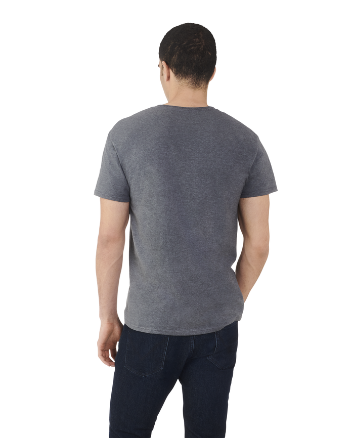 Men's Dual Defense® Crew Neck T-Shirt, 1 Pack Charcoal Heather
