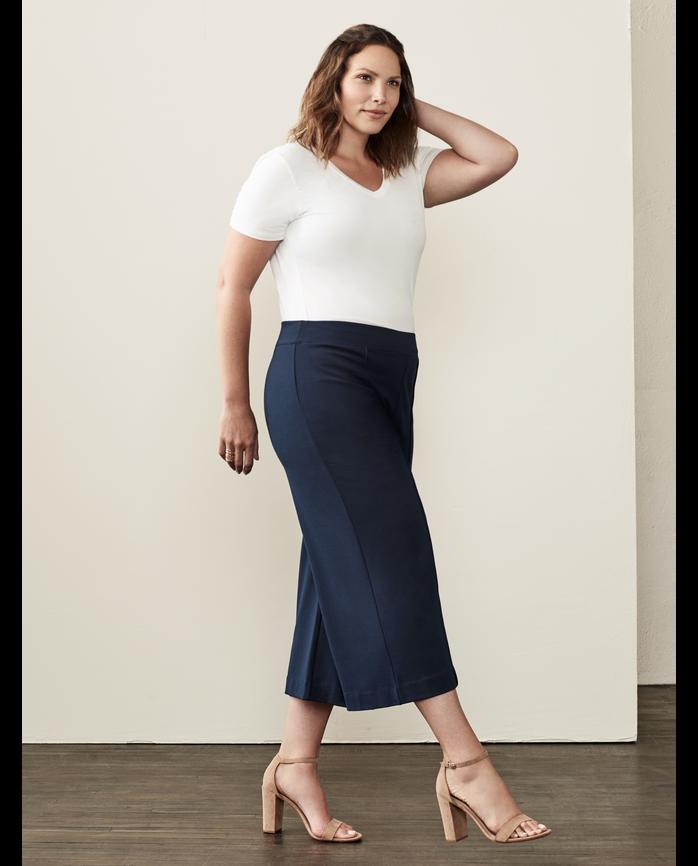 Women's Seek No Further® Wide-Leg Crop Pant, 1 Pack Brilliant Black