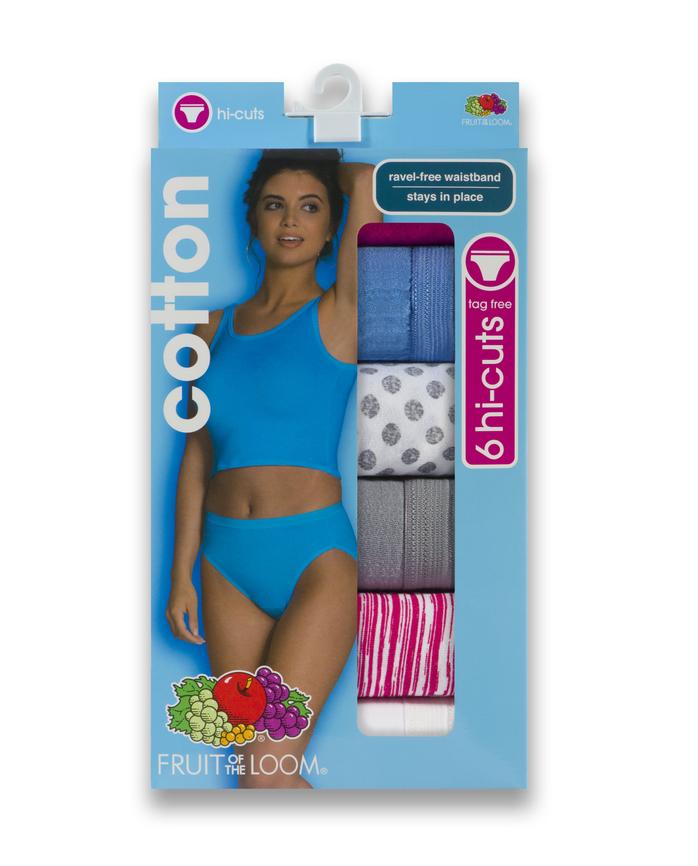 Women's Cotton Hi-Cut, 6 Pack