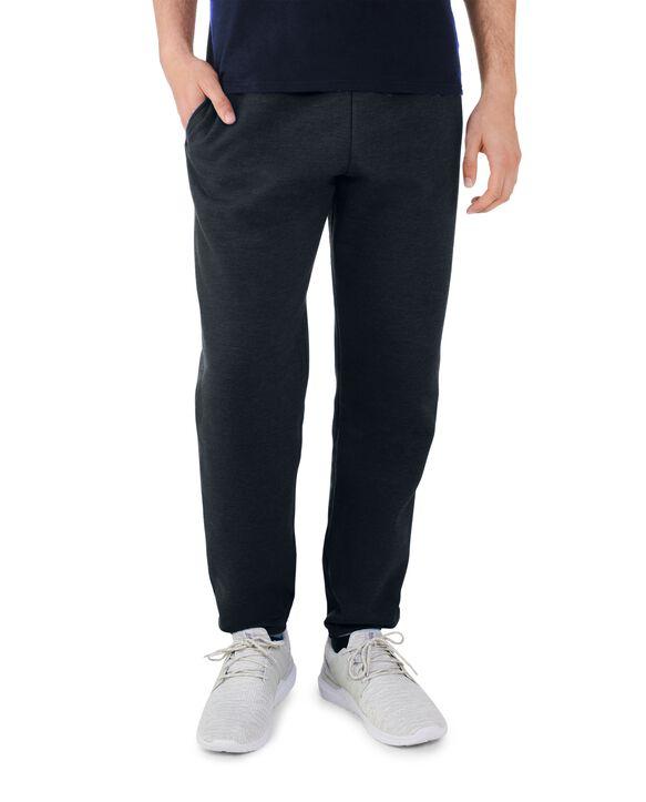 Men's EverSoft Fleece Elastic Bottom Sweatpants, 2 Pack BLACK HEATHER