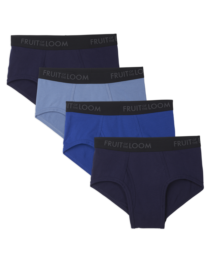 Men's 4 Pack Breathable Assorted Color Brief