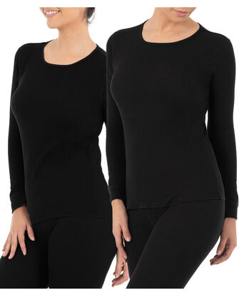 Women's Thermal Crew Top, 2 Pack