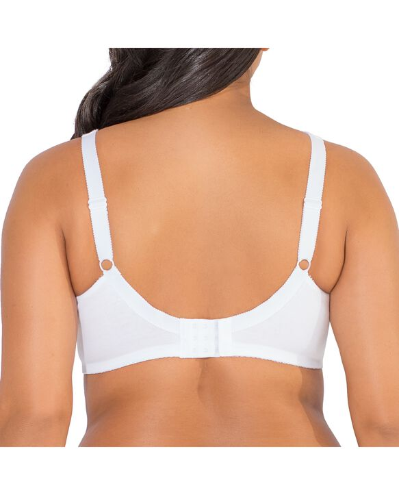 Women's Seamed Unlined Wirefree Bra, 1 Pack WHITE