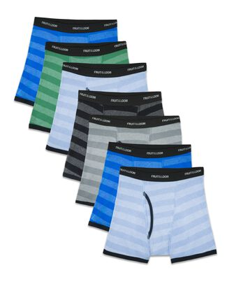 Boys' Striped Boxer Briefs, 7 Pack