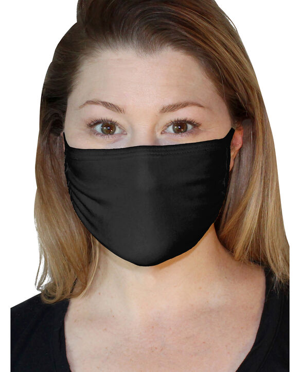 Reusable Cotton Face Mask Non-Medical, 5 Pack Black