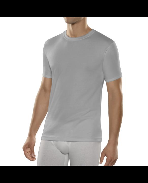 Fruit of the Loom Premium Cool Blend Men's Crew T-Shirts, 2 Pack - Black/Gray