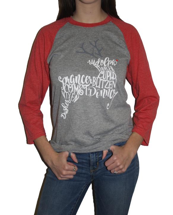 Limited Edition Holiday ¾ Sleeve Raglan Shirt
