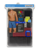 Men's CoolZone Fly Covered Waistband Boxer Briefs, Extended Sizes, 4 Pack ASSORTED
