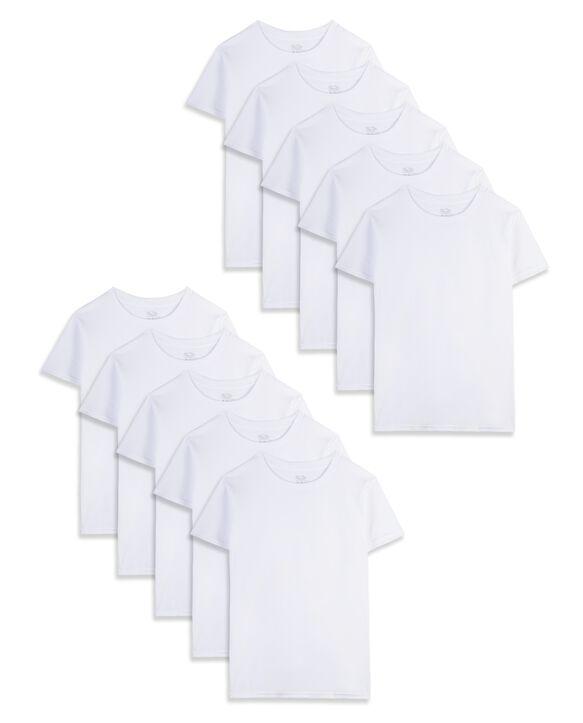 Boys' White Crew Undershirt