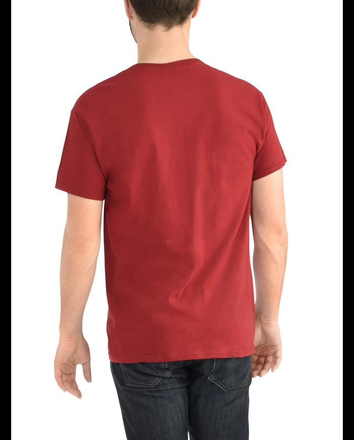 Men's Dual Defense UPF Short Sleeve Pocket T-Shirt Cardinal