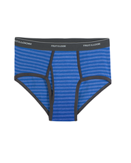 Men's Assorted Stripe/Solid Fashion Briefs, 6 Pack Assorted