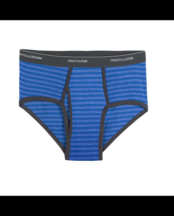Men's Assorted Stripe/Solid Fashion Briefs, 6 Pack