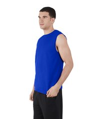 Men's Dual Defense UPF Sleeveless Muscle Shirt Cobalt