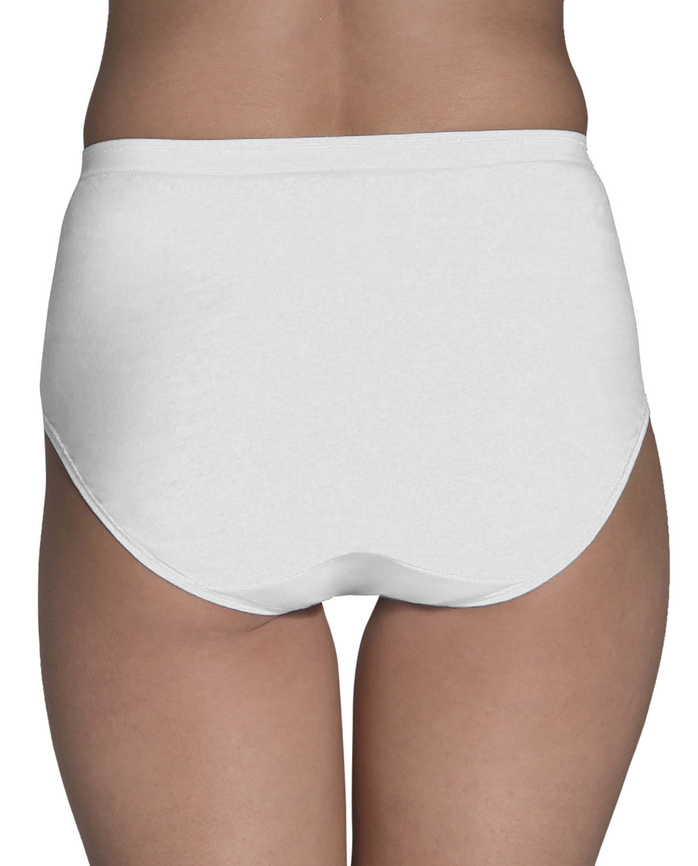 Women's Solid White Brief Panty, 9 Pack