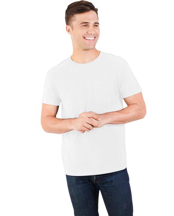 Men's 360 Breathe Short Sleeve Pocket T-Shirt, Extended Sizes Arctic White