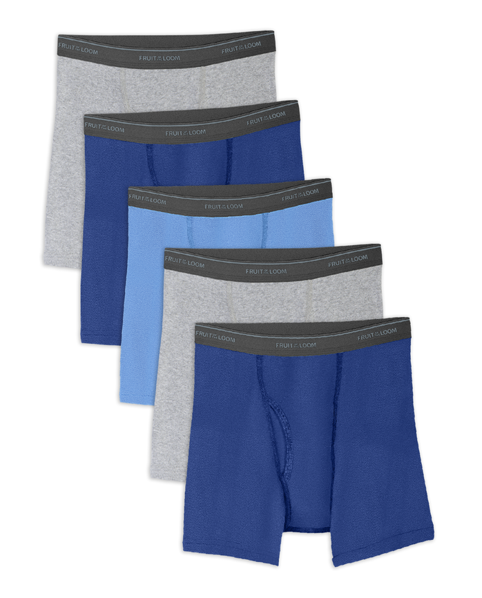 Boys' Husky Assorted Boxer Briefs, 5 Pack