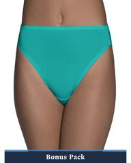 Women's Assorted Microfiber Hi Cut Panty, 8 Pack ASSORTED