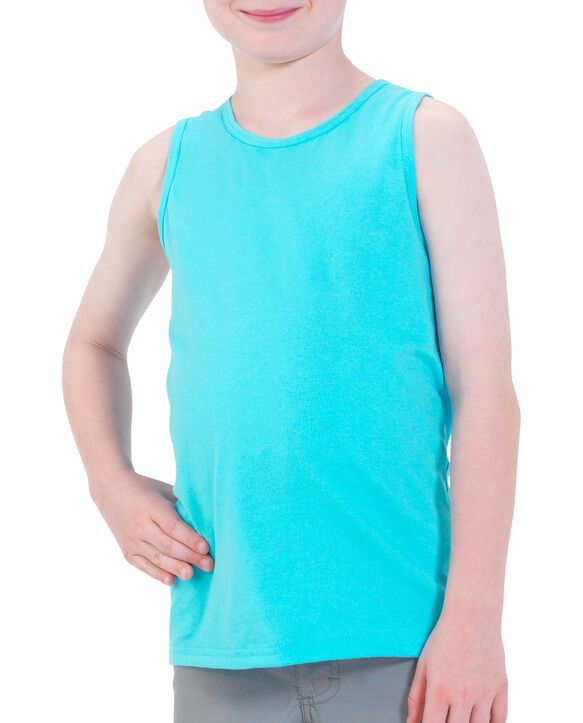 Boys' Tank Top, 2 Pack Clear Turquoise Heather