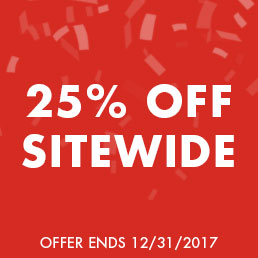 Complete your holiday shopping. 25% off sitewide. Offer ends 12/31/17.
